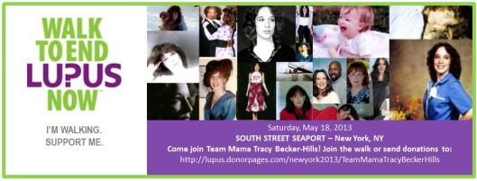 Help Support my Walk for Lupus Now Event this Weekend!